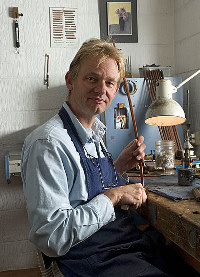 Jan Strumphler in his workshop